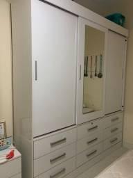 Título do anúncio: Guarda Roupa branco 3 portas com espelho e gavetas