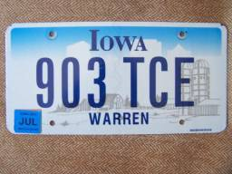 Iowa,EUA,Placa,Carro,Original,Importada,Volks,Ford,Fiat,Honda.