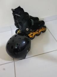 Vendo patins zerado acompanha capacete