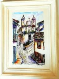 Quadro com imagem de Ouro Preto