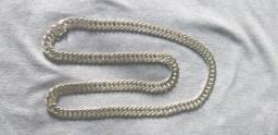 Cordão de prata 925, 10 milímetros, 70 centímetros, fecho de gaveta