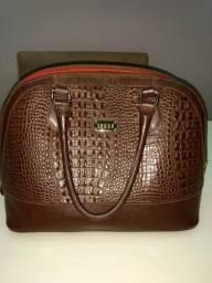 Bolsa feminina couro legítimo