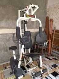 Estação de Musculação athletic way Compact + Bicicleta CL 200 CALOI fitness