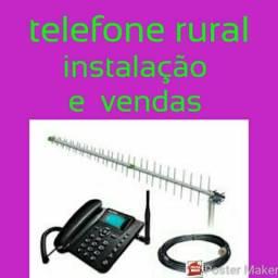 Instalação e vendas de telefone rural