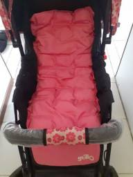 Carrinho rosa para criança até 15kg