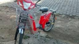 Vendo bicleta elétrica seme nova vermelha ats *