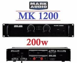 Potência Mark Audio Amplificador Mk1200 200wrms