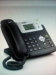 Telefone Ip Yealink C/ Poe E Fonte Sip T21/p 2