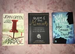 Livros do JOHN GREEN (Cidades de Papel, Quem é você Alasca, Will & Will)