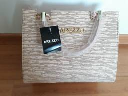 Bolsa Arezo Rosa com gliter para reuniões de negócios