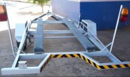 Reboque para transporte de barco de até 5 metros