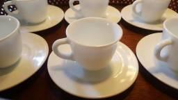 Jogo de xícaras de café porcelana espanhola
