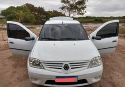Vendo ou troco Renault Logan expression hi-flex 1.6, 8v, 2008/09.