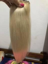 Aplique tic tac cabelo humano loiro comprar usado  Duque de Caxias