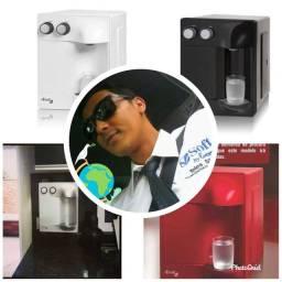 Filtros e purificadores de água gelado e natural soft