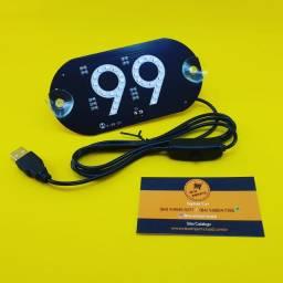 Luminoso Parabrisa ( 99 ) Led Azul - USB