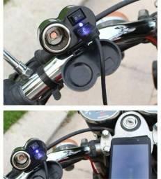 Tomada Usb Para Moto Carregador Celular Moto 5v 12v Para Motoboy - Loja Natan Abreu