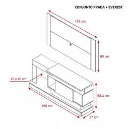 Rack prada + painel Everest FVC5516