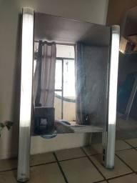 Espelho camarim com LED e tomada