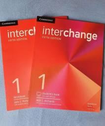 Kit livro de inglês - interchange - workbook e student's book - novos em branco