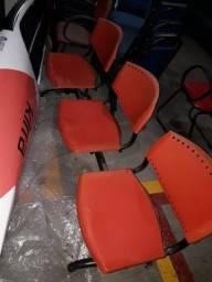 Título do anúncio: Cadeira Longarina Plástica 3 lugares