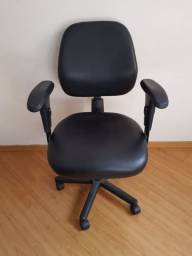 Título do anúncio: Cadeira Escritorio Executiva Preta em Corino