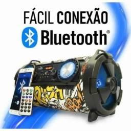 Título do anúncio: Caixa de Som Amplificada Bluetooth Grasep Canhão Personalizada