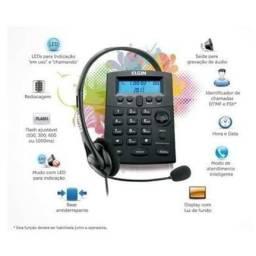 Título do anúncio: Telefone Headset Com Identificador Chamadas Hst-8000 Preto