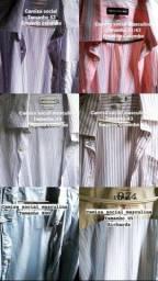 Camisas e calças social valor 50,00 cada