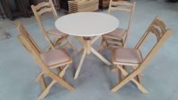 Título do anúncio: Mesa Redonda de 0,80m com Cadeiras