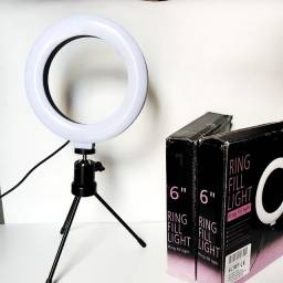 Título do anúncio: Ring light 16cm  iluminador de led com tripé .