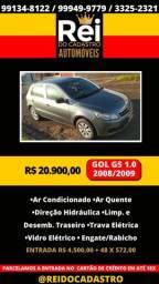 Gol G5 1.0 Completo 2008/2009 financio entrada de R$ 4.500,00