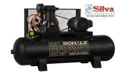 Título do anúncio: Compressor de ar 30 pés 250Litros 175Libras 12bar 7.5CV Schulz