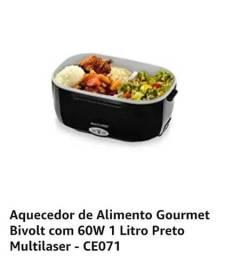 Aquecedor de Alimento Gourmet Bivolt com 60W 1 Litro Preto Multilaser