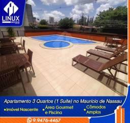 Apartamento de 129 m² com 03 quartos (01 suíte) para venda em Caruaru/PE.