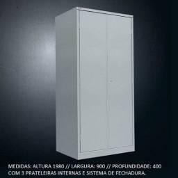 Título do anúncio: armário em aço com portas