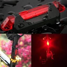 Lanterna Bike Led Recarregável Traseira Forte Ciclista Ciclismo USB 4 Modos