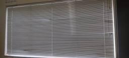 3 unidades de cortina veneziana horizontal branca