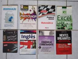 Livros Excel, Memorização, Inglês etc...