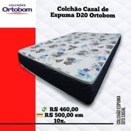 Promoção de Colchão Casal com Espuma D20 Ortobom