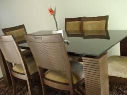 Título do anúncio: Mesa de vidro - 6 cadeiras - Requinte.