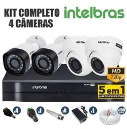 Título do anúncio: 4 câmeras de segurança em até 6x no cartão