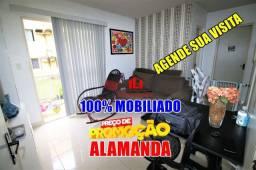 Apartamento Alamanda 100% Mobiliado com 2 Quartos/ 47m²
