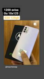 Título do anúncio: Motorola g30 completo + Nota + garantia  - avalio trocas  ou 10x125