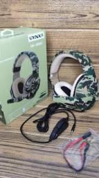 Título do anúncio: Headset Gamer Camuflado Satélite (entrega grátis)