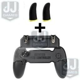 Kit Controle Gamepad w11 + Luva de Dedo Gamer Para Celular Free fire, Pubg, Cod Mobile