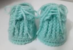Tênis botinha em Crochê para Recém Nascidos