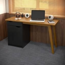 Título do anúncio: Mesa/Escrivaninha Preta 136cm Acetinado! A pronta entrega!!!