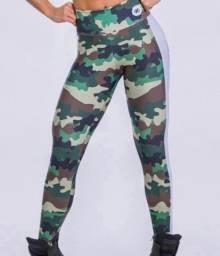 Calça legging exército camuflada