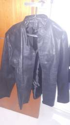 Jaqueta de couro legítimo unissex